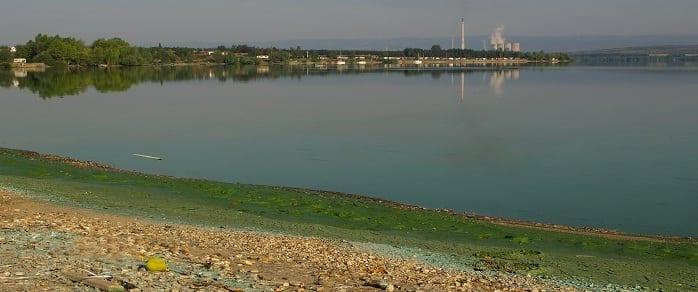 Contaminación marina u oceánica que obliga a abandonar playas y calas como esta.
