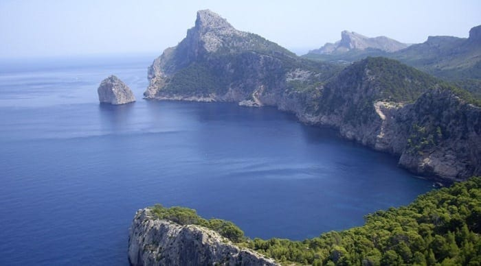 Cap de Formentor (Mallorca, Bahía de Alcudia).