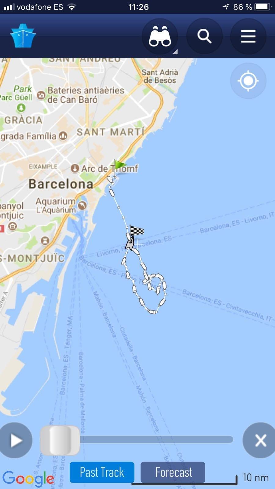 Marine Traffic barco