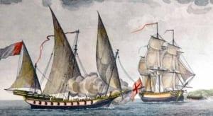 imagen de un velero jabeque
