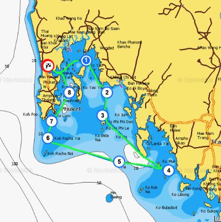 Ruta velero mar de andaman