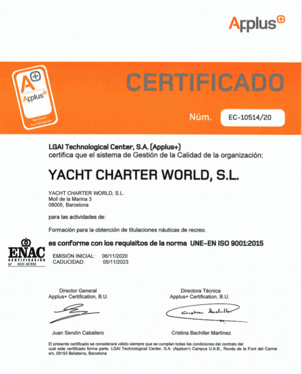 Certificado ISO Neptuno