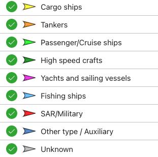 tipo de buque en vesselfinder