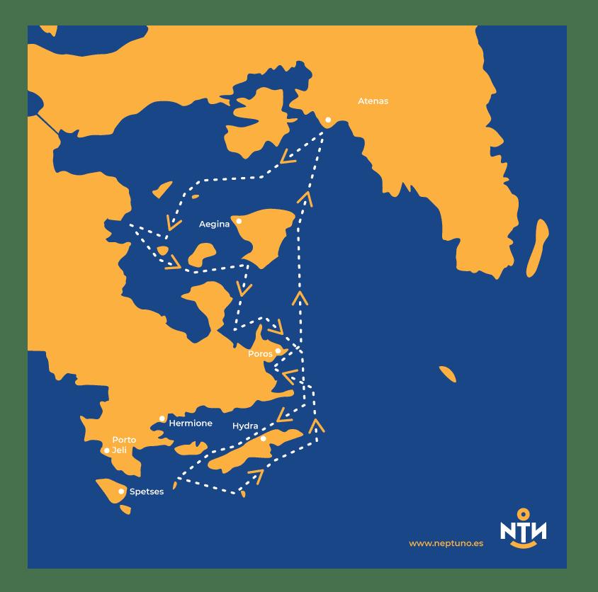 navegar por las islas saronicas