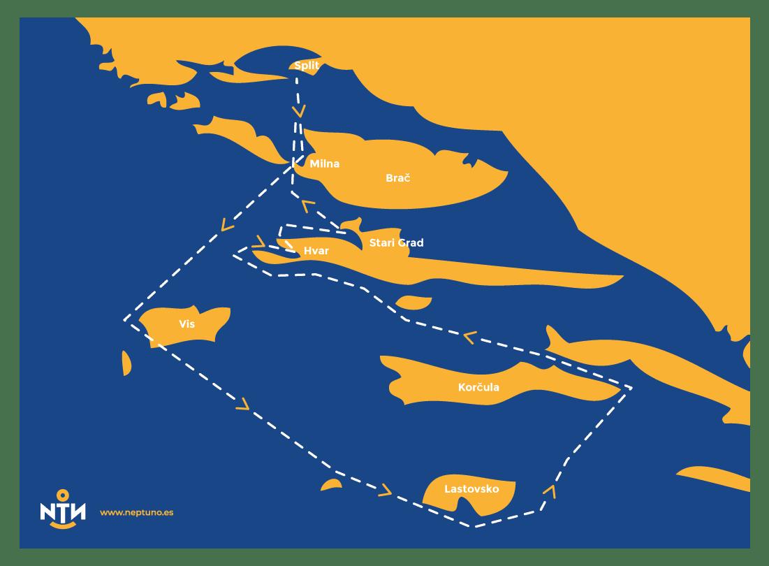 ruta croacia en velero