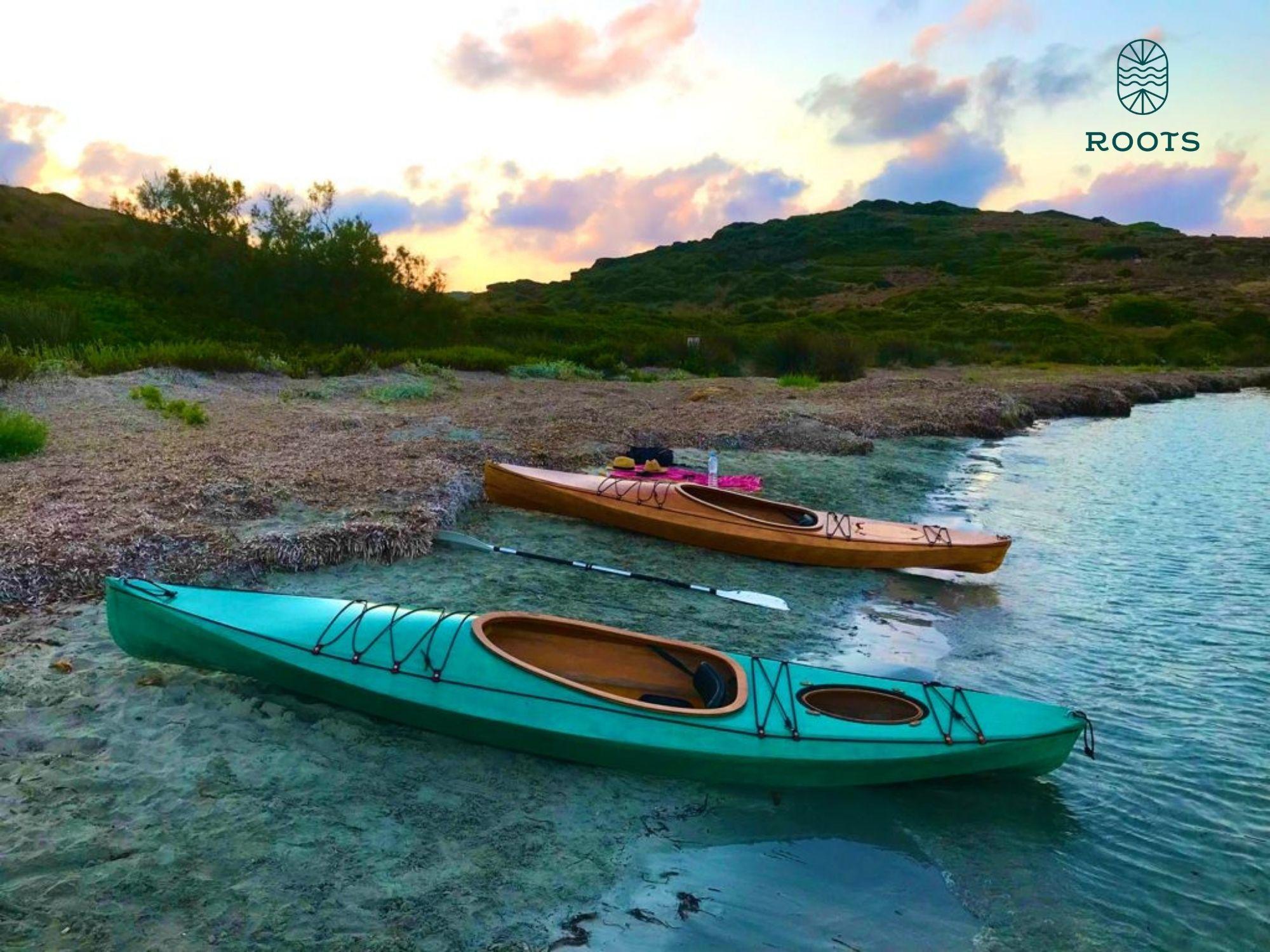 Kayak de madera Roots